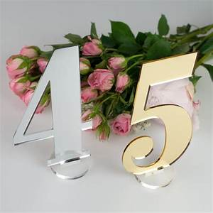 Acrylic Wedding Table Numbers Personalised Favours