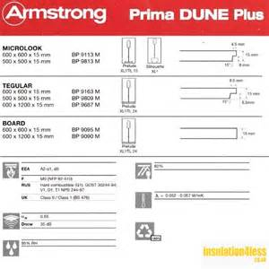 dune armstrong flush edged suspended ceiling tiles