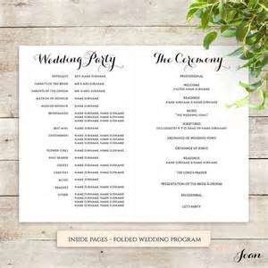 wedding ceremony order byron printable wedding order of service template wedding decor barn wedding