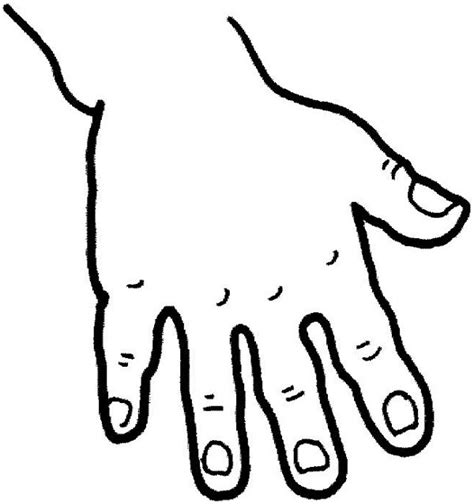 fingered hand coloring page coloring sky