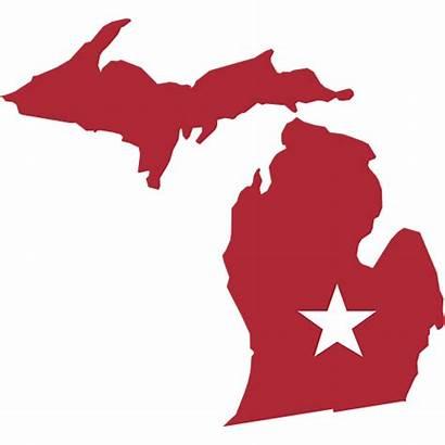 Michigan Shape Stencil Decal State Craft Discrimination