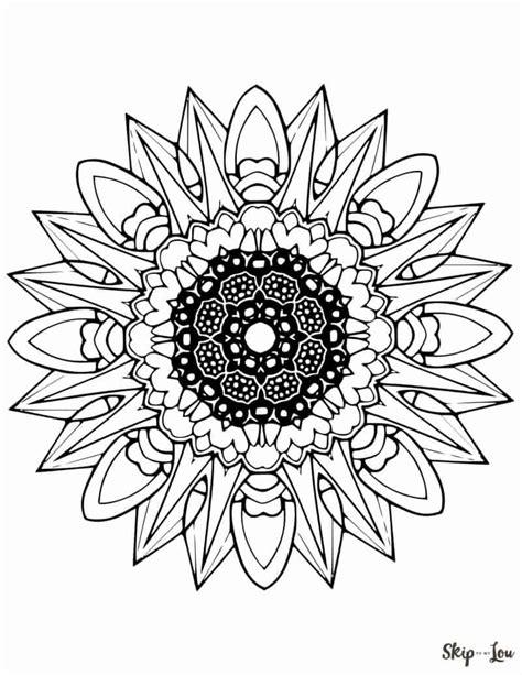 beautiful  mandala coloring pages skip   lou