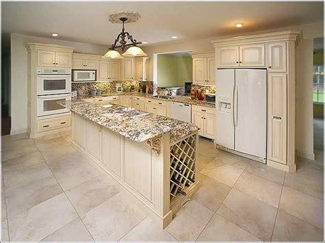 Kitchen With White Appliances  Home Interior Design