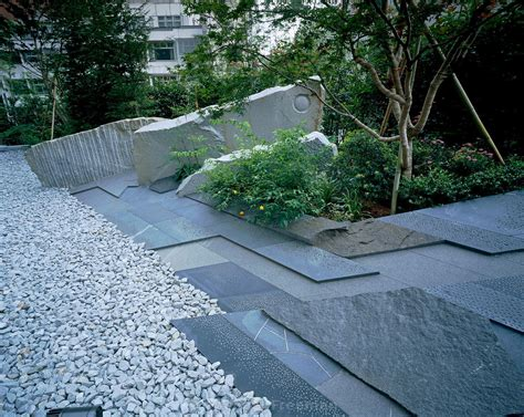 contemporary garden paving garden paving contemporary japanese style garden with blue slate paving and gravel japanese
