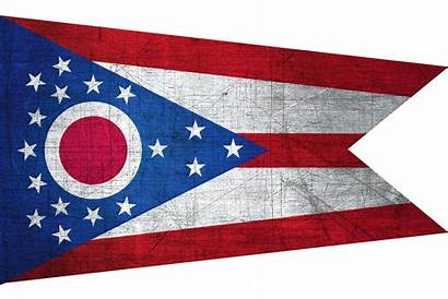Ohio Flag Flags Metal State States Background