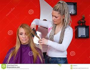Hair Stylist At Work Royalty Free Stock Photo - Image ...