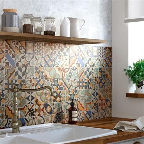moroccan design tiles une crédence authentique avec la mosaïque imitation