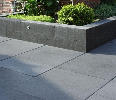Tuintegel 60x60x4 zwart zonder facet, betontegels 60x60