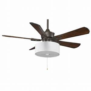 Islander oil rubbed bronze inch ceiling fan with walnut blades and drum shade light kit