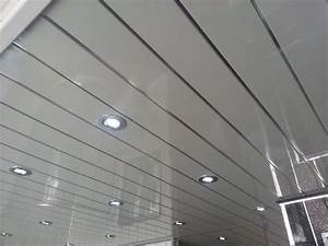 white grooved ceiling cladding with chrome strip 3m uk With cladding for bathroom ceiling