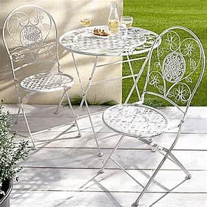 Gartenmöbel 3er Set : metall gartenm bel romantik 3er set farbe wei ~ Indierocktalk.com Haus und Dekorationen