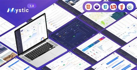 mystic multipurpose psd admin dashboard template