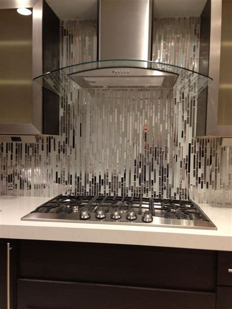 kitchen backsplash tiles glass modern random mixed tile with white glass and textured 5075