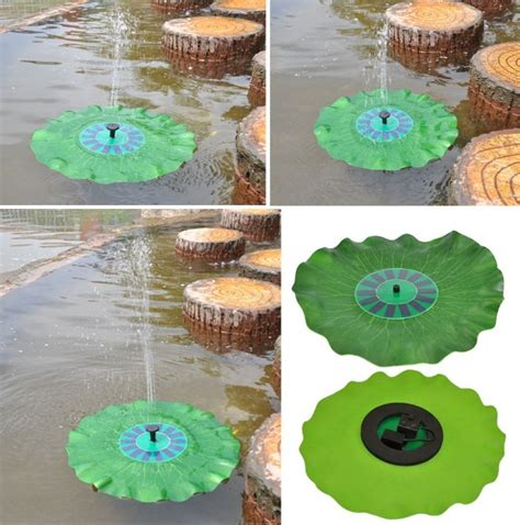 Coldless Schwimmenden Lilie Pad Solar Wasser Brunnen Fisch