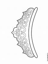 Crown Coloring Pages Printable Template Tiara корона Adult Crowns Drawing Tiaras Queen Diy руками шаблон своими Pattern Recommended Stencils sketch template