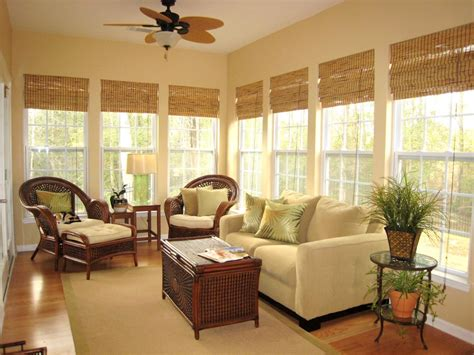 Ceiling Blinds For Sunrooms by Classic Bamboo Shades Window Treatments Ideas