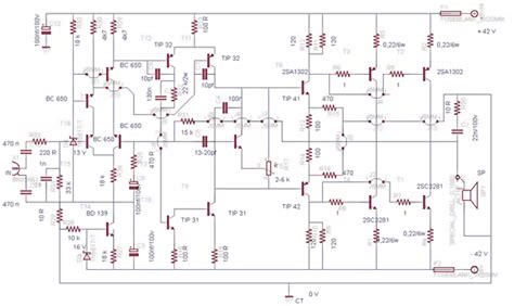 sc sa watt amplifier circuit diagram