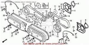 Honda Gl1200i Gold Wing Aspencade 1984 Usa Front Cover    Timing Belt Timing Belt