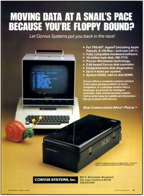 vcg retro scan   week corvus apple ii hard drive