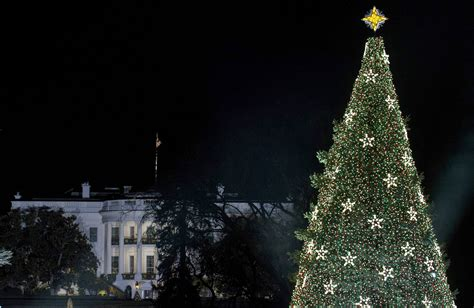 national christmas tree lit in washington dc photos