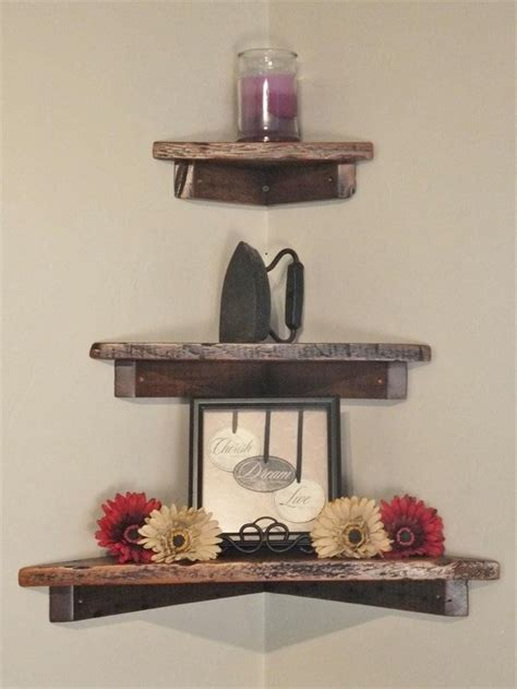 Living Room Shelf Plans by Set Of Three 12 Quot 18 Quot And 24 Quot Rustic Floating Wood