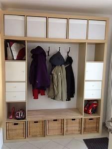 Garderobe Baum Ikea : unsere garderobe gebaut aus expedit 5x5 und expedit 1x5 windfang ~ Eleganceandgraceweddings.com Haus und Dekorationen