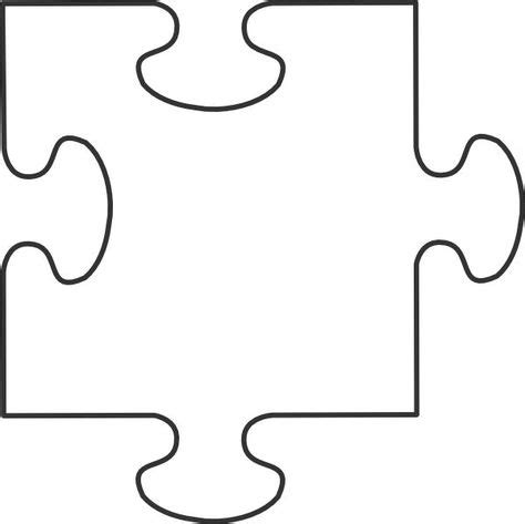 Giant Blank Puzzle Pieces
