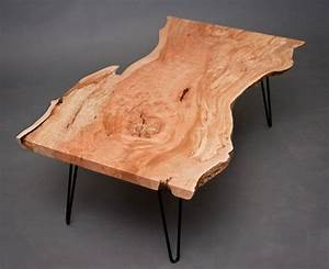 best handmade coffee tables wood slab hairpin legs and legs With how to make a wood slab coffee table