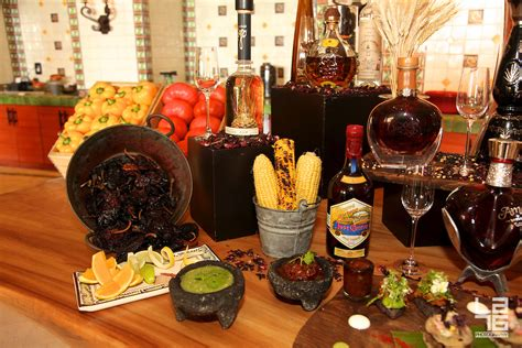 Mariachi band and tequila display for Mexico's ...