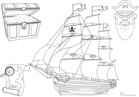 Dessin Bateau Pirate Noir Et Blanc by Coloriage Bateau Et Tr 233 Sor De Pirate 224 Imprimer Et Colorier