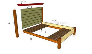 gallery queen size bed frame plans