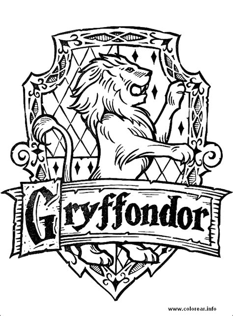 griffondor sign  harry potter coloring pages color