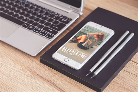 Realistic and rendered iphone mockup templates that you can download instantly at no cost. Free Mockup: iPhone 6 Plus on Desk (PSD Smart Object) on ...