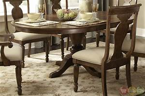 rustic oval pedestal table formal dining furniture set With formal oval dining room sets