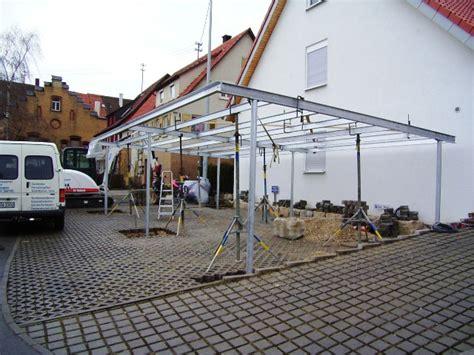carport aus stahlkonstruktion vord 228 cher und carports