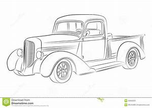 dessin de collecte de hotrod illustration stock With 1955 dodge ram van