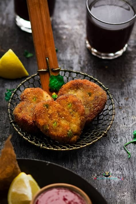 veggie bread cutlets tikki binjals veg kitchen