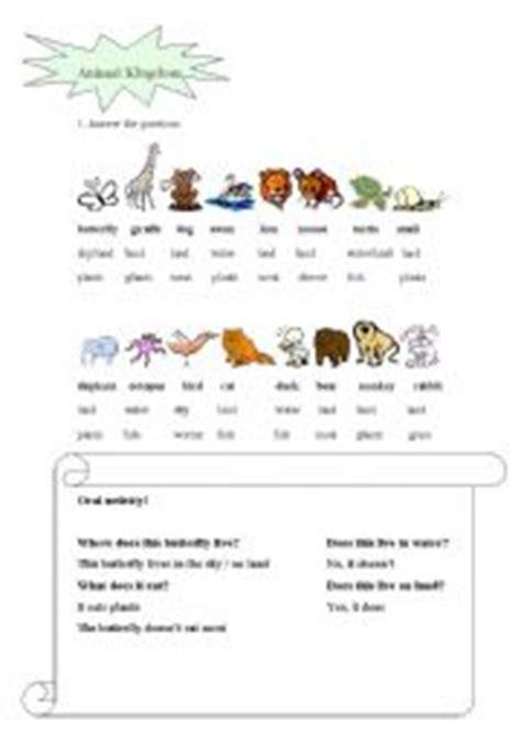 animal kingdom esl worksheet by irisha boss