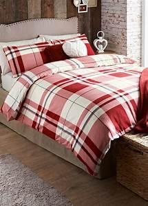 Heritage, Check, Print, Brushed, Cotton, Bedding, Set