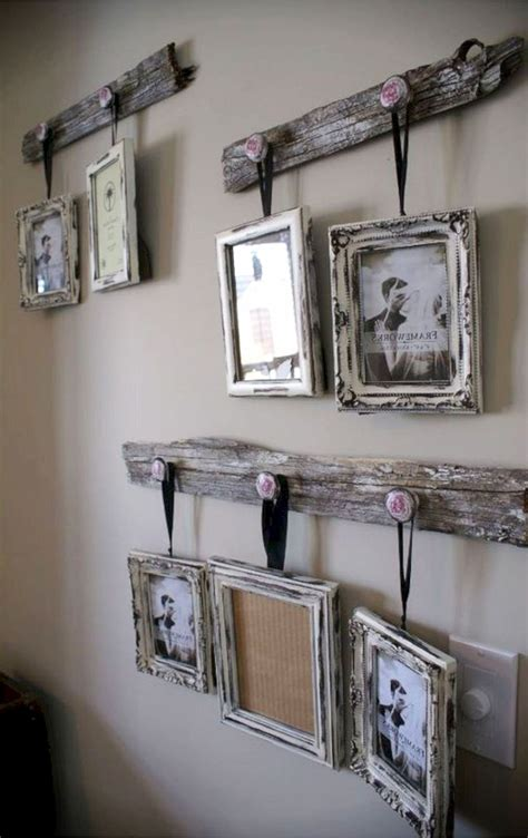 There's something so welcoming about rustic decor. Photo Wall Ideas - 37 Picture Gallery Wall Layout Ideas For The Perfect Family Photograph Accent ...
