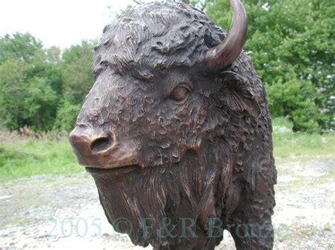 American Bison Bronze Sculpture