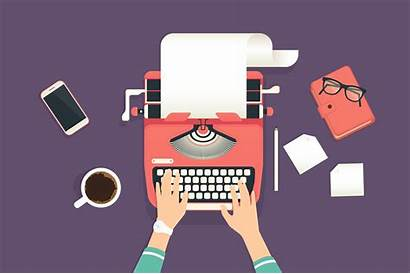 Guide Typewriter Template Typing Illustration Woman Business