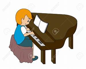 Child Playing Piano Clipart (17+)