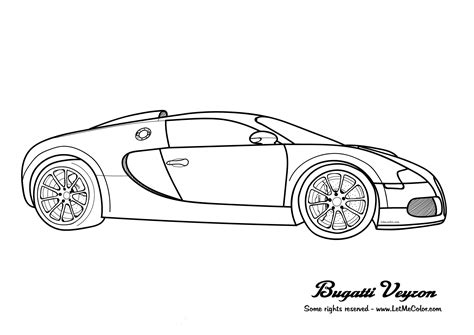 Printable Bugatti Coloring Pages For Kids