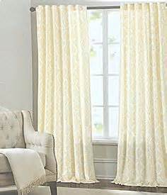 Tahari Home Curtains Blue by Tahari Home Medallion Pair Of Curtains In Navy Blue White