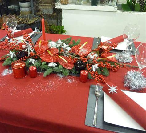 decoration table de noel et blanc