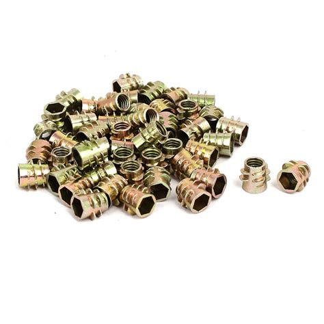 Vis à Béton M6x10mm Vis 233 Crous Insert Filet 233 50pcs Ton Bronze Pour Meubles En Bois