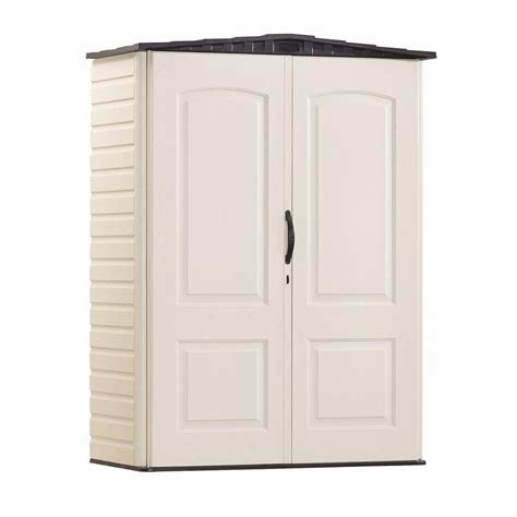 rubbermaid small vertical storage shed 52 cu ft the