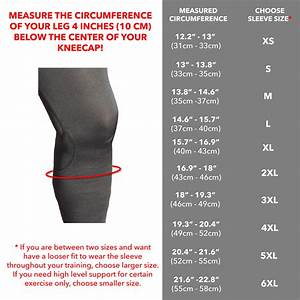 Copper Fit Size Chart Knee 5 Mm Knee Sleeves Karm Lifestyle