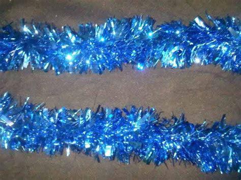 extra thick tinsel garland blue tinsel foil garlands